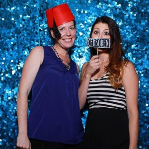 blue sequin photo booth backdrop