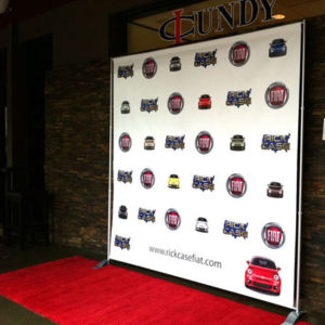 fiat event step and repeat banner